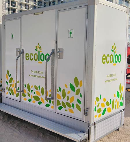 EcoLoo Double VIP Mobile Toilet
